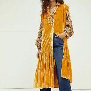 NWT Free People On My Mind Velvet Maxi Slip Dress
